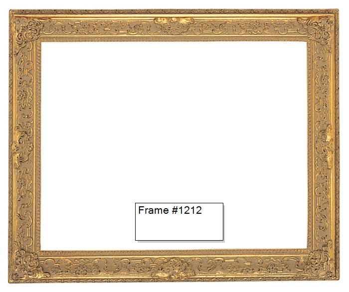 Picture Frames - Oil Paintings & Watercolors - Frame Style #1212 ...