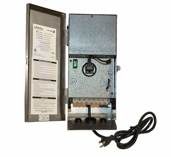Focus Industries RXT Series 120W Multi-Voltage Single Circuit Stainless Steel Transformer w/ Photocell