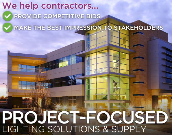 Project-focused lighting solutions and supply for electrical contractors
