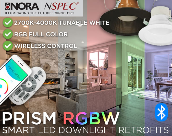 Nora PRISM RGBW LED Retrofit Downlights
