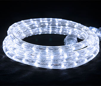 "LED 2-Wire 1/2"" 120v Directional Cool White Rope Light Kit"