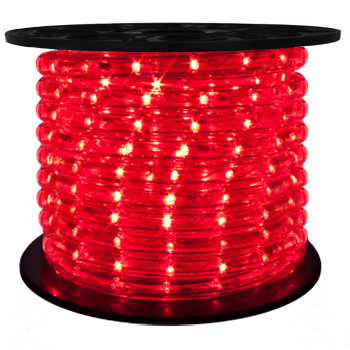 "LED 2-Wire 1/2"" 120v Directional Red Rope Light - 150'"