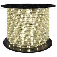 "LED 2-Wire 1/2"" 120v Directional Warm White Rope Light - 150'"