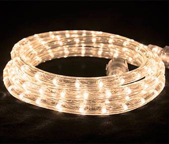 "LED 2-Wire 1/2"" 120v Directional Warm White Rope Light Kit"