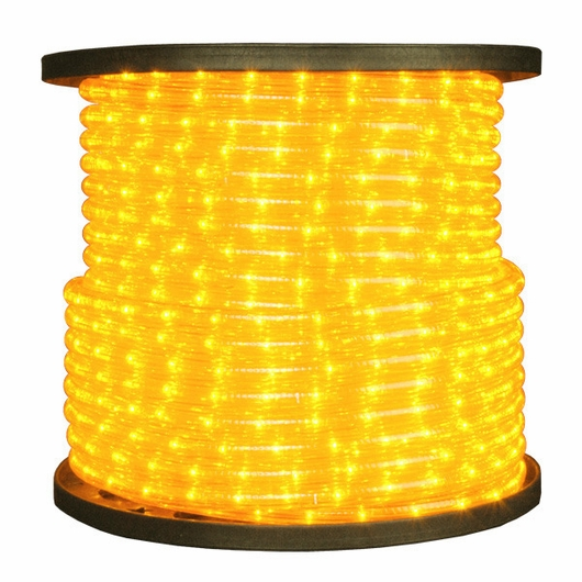 "LED 2-Wire 1/2"" 120v Directional Yellow Rope Light - 150'"