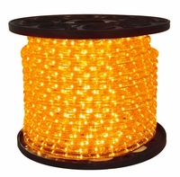 "LED 2-Wire 1/2"" 120v Omnidirectional Amber Rope Light - 150'"