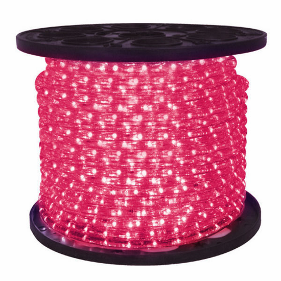 "LED 2-Wire 1/2"" 120v Omnidirectional Pink Rope Light - 150'"