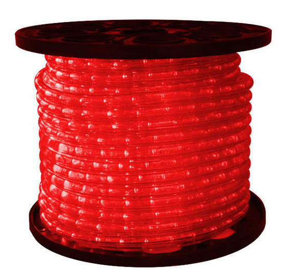"LED 2-Wire 1/2"" 120v Omnidirectional Red Rope Light - 150'"