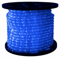 "LED 2-Wire 3/8"" 120v Omnidirectional Blue Rope Light - 150'"