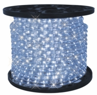 "LED 2-Wire 3/8"" 120v Omnidirectional Cool White Rope Light - 150'"