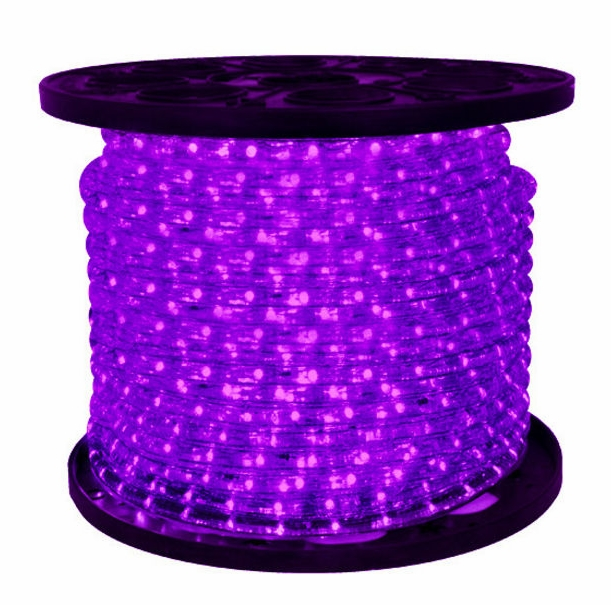 Omnidirectional 38 purple led rope lights 150 feet led 2 wire 38quot 120v omnidirectional purple rope light 150 aloadofball Images