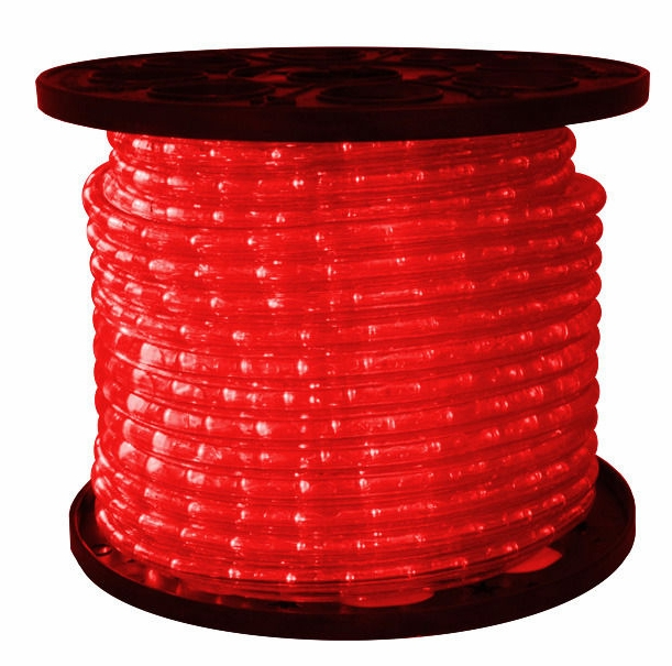 omnidirectional 3 8 red led rope lights 150 feet