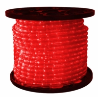 "LED 2-Wire 3/8"" 120v Omnidirectional Red Rope Light - 150'"