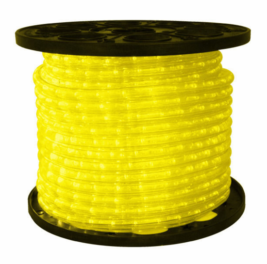 "LED 2-Wire 3/8"" 120v Omnidirectional Yellow Rope Light - 150'"