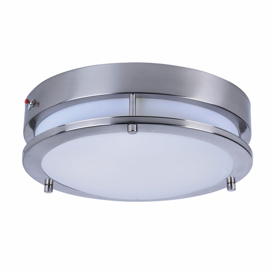Maxim 12in Linear LED Flush Mount with EM Backup 55546WTSN