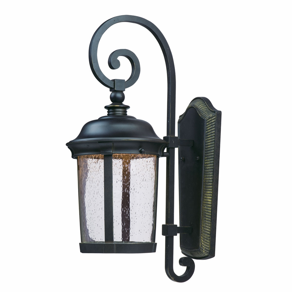 Decorative Exterior Wall Sconces : Maxim Dover LED 25.5 Tall Outdoor Wall Sconce 55024CDBZ