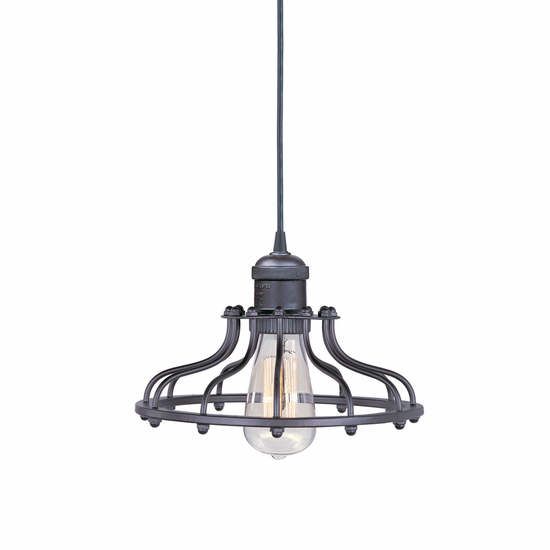 "Maxim Mini Hi-Bay 1-Light Pendant 10"" Metal Shade"