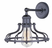 "Maxim Mini Hi-Bay 1-Light Wall Sconce 10"" Metal Shade"