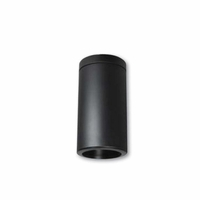 "Nora 6"" LED Cylinder - Black - Surface Mount"