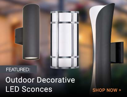 Outdoor Decorative LED Wall Sconces