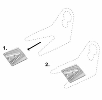 Parapet Clips for Flat Surface Mounting (100 pack)