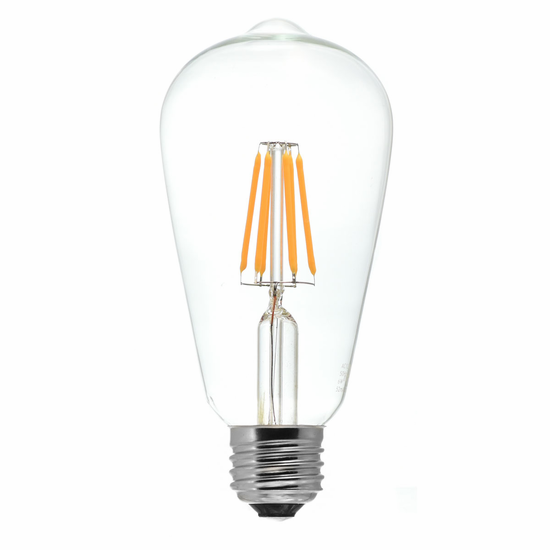 Tamarac 5W LED Filament Vintage S20 Edison Lamp (6-pack)