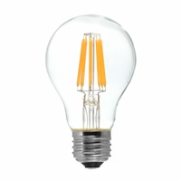 Tamarac 8W LED Filament Vintage A19 Lamp - Clear (12-Pack)