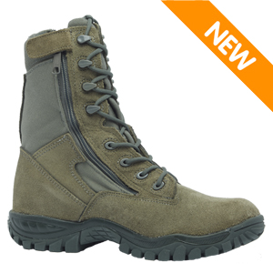 Belleville 612Z ST Men's Side Zipper Sage Green Hot Weather Steel Toe Tactical Boot