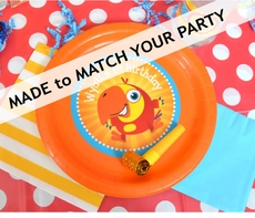 "24 MADE-TO-MATCH<br>Personalized Party Plates 9"" Meal Size Qty.24"