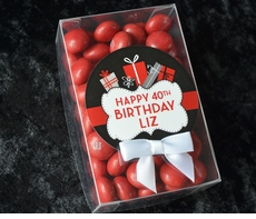 40th Birthday...choose your colors<br>Personalized Candy Box Favor