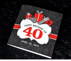 40th Birthday Memory Book & Guestbook
