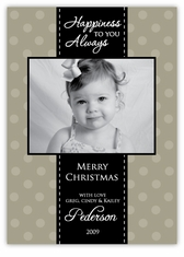 All Wrapped Up in Beige Photo Holiday Card
