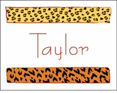 Animal Print Rows Note Cards