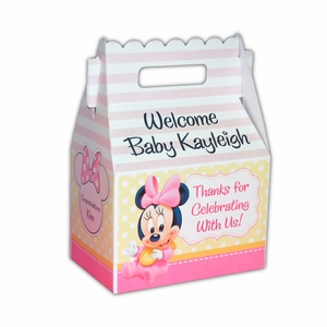 Baby Minnie Mouse First Birthday Gable Favor Box