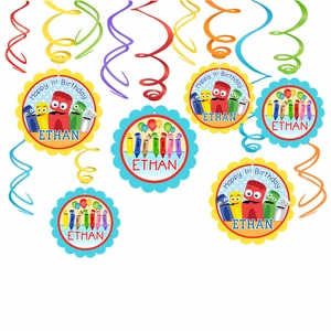 BabyFirst ColorCrew Party Hanging Spinners Decorations