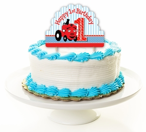 Tec The Tractor Party Personalized Cake Topper