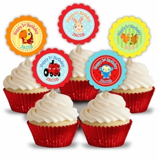 BabyFirst TV Favorites Party Personalized Cupcake Toppers