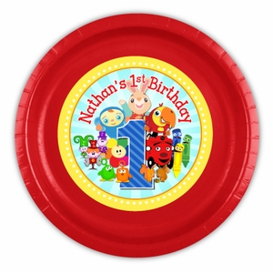 BabyFirst TV Favorites Party Personalized 9inch Meal Plates
