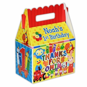 BabyFirst TV Favorites Party Personalized LARGE Gable Favor Box