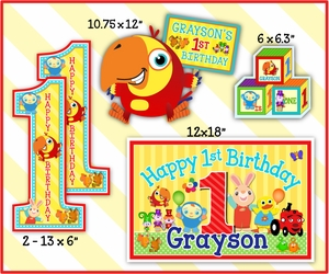 "BabyFirst TV Favorites Personalized ""Cutouts"" Party Decorations, 5 pack"