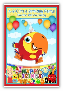 Pin the Party Hat on TV Favorites Party Game
