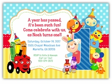BabyFirstTV Frame Friends Birthday Party Invitation