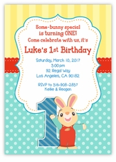 Personalized Kids Birthday Cards Party Invitations Amys Card - Bunny birthday invitation template