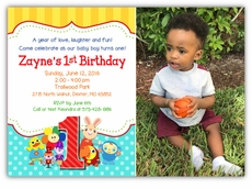 Babyfirst tv first birthday party supplies babyfirsttv tv favorites birthday party photo invitation filmwisefo