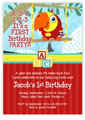 BabyFirstTV VocabuLarry Birthday Party Invitation