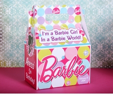 Barbie Party Personalized Gable Box Party Favor