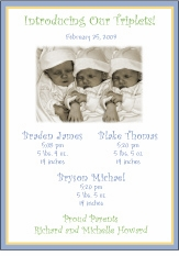 BBB Photo Triplet Birth Announcement