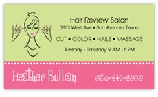 Beautician or Salon Business Cards