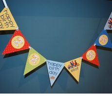 Birthday Train<br>High Chair MIni Banner