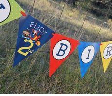 Birthday Train<br>Personalized Happy Birthday Pennant Banner